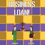 Conceptual hand writing showing Business Loan. Business photo text Loans provided to small businesses for various. Conceptual hand writing showing Business Loan stock illustration