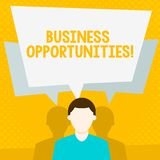 Conceptual hand writing showing Business Opportunities. Business photo showcasing involves sale or lease of any product. Conceptual hand writing showing Business royalty free illustration
