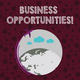 Conceptual hand writing showing Business Opportunities. Business photo text involves sale or lease of any product or. Conceptual hand writing showing Business vector illustration