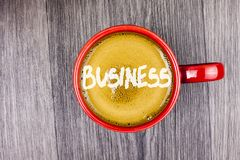Conceptual hand writing showing Business. Business photo text Marketing and sales stagedy for new projects written on Coffee in Re. Conceptual hand writing Stock Photography