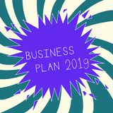 Conceptual hand writing showing Business Plan 2019. Business photo text Challenging Business Ideas and Goals for New Year.  stock illustration