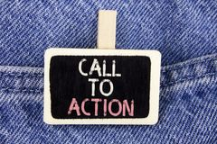 Conceptual hand writing showing Call To Action. Business photo text most important part of online digital marketing campaign writt Stock Photo
