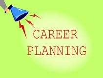 Conceptual hand writing showing Career Planning. Business photo showcasing A list of goals and the actions you can take to achieve. Them royalty free stock images
