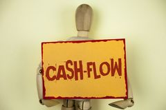 Conceptual hand writing showing Cash-Flow. Business photo text Virtual movement of money by company finance department statistics. Written Sticky Note paper Stock Photos