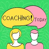 Conceptual hand writing showing Coaching. Business photo text Prepare Enlightened Cultivate Sharpening Encourage. Conceptual hand writing showing Coaching vector illustration