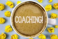 Conceptual hand writing showing Coaching Motivational Call. Business photo text Tough training begins to improve your skills writt stock image