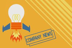 Conceptual hand writing showing Company News. Business photo showcasing provides news and feature articles about the