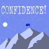 Conceptual hand writing showing Confidence. Business photo showcasing Never ever doubting your worth,inspire and transform royalty free stock photo