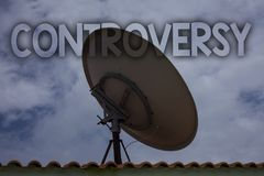 Conceptual hand writing showing Controversy. Business photo text Disagreement or Argument about something important to people Idea. S messages television antenna Stock Photo