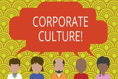 Conceptual hand writing showing Corporate Culture. Business photo text Beliefs and ideas that a company has Shared. Conceptual hand writing showing Corporate vector illustration