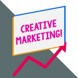 Conceptual hand writing showing Creative Marketing. Business photo showcasing Campaigning to meet the advertising. Conceptual hand writing showing Creative royalty free illustration