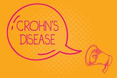Conceptual hand writing showing Crohn s is Disease. Business photo text inflammatory disease of the gastrointestinal. Tract royalty free illustration