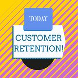 Conceptual hand writing showing Customer Retention. Business photo showcasing Keeping loyal customers Retain analysisy. Conceptual hand writing showing Customer vector illustration