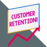 Conceptual hand writing showing Customer Retention. Business photo showcasing Keeping loyal customers Retain analysisy. Conceptual hand writing showing Customer stock illustration