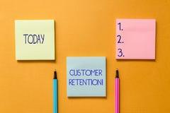 Conceptual hand writing showing Customer Retention. Business photo showcasing Keeping loyal customers Retain analysisy. Conceptual hand writing showing Customer royalty free stock photo
