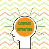Conceptual hand writing showing Customer Retention. Business photo text Keeping loyal customers Retain analysisy as. Conceptual hand writing showing Customer vector illustration