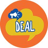 Conceptual hand writing showing Deal. Business photo text Agreement entered into by two or more parties for their mutual royalty free illustration