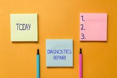 Conceptual hand writing showing Diagnostics Repair. Business photo showcasing A program or routine that helps a user to. Conceptual hand writing showing stock photos