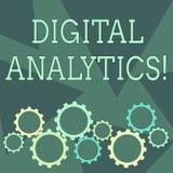 Conceptual hand writing showing Digital Analytics. Business photo showcasing the analysis of qualitative and. Conceptual hand writing showing Digital Analytics stock illustration