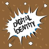 Conceptual hand writing showing Digital Identity. Business photo text information on entity used by computer to represent agent.  royalty free illustration