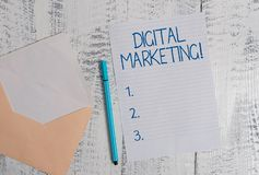 Conceptual hand writing showing Digital Marketing. Business photo showcasing Search Engine Optimazation Pay Per Click Ad. Conceptual hand writing showing Digital stock photos