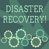 Conceptual hand writing showing Disaster Recovery. Business photo showcasing helping showing affected by a serious. Conceptual hand writing showing Disaster vector illustration
