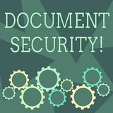 Conceptual hand writing showing Document Security. Business photo showcasing means in which important documents are. Conceptual hand writing showing Document royalty free illustration