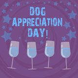 Conceptual hand writing showing Dog Appreciation Day. Business photo text a day to appreciate your best friend on four legs Filled stock illustration