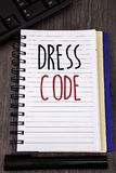 Conceptual hand writing showing Dress Code. Business photos showcasing Rules of what you can wear and not to school or an event. Conceptual hand writing showing royalty free stock images
