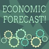 Conceptual hand writing showing Economic Forecast. Business photo showcasing attempting to predict the future condition. Conceptual hand writing showing Economic stock illustration