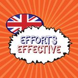 Conceptual hand writing showing Efforts Effective. Business photo showcasing Produces the results as per desired Goal. Target Achieve royalty free illustration