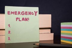 Free Conceptual Hand Writing Showing Emergency Plan. Business Photo Showcasing Actions Developed To Mitigate Damage Of Royalty Free Stock Image - 148306836