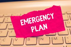 Conceptual hand writing showing Emergency Plan. Business photo text Procedures for response to major emergencies Be prepared.  royalty free stock image