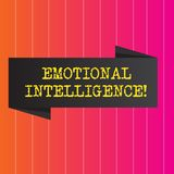 Conceptual hand writing showing Emotional Intelligence. Business photo showcasing Capacity to control and be aware of. Demonstratingal emotions royalty free stock image