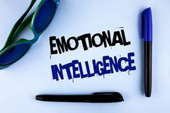 Conceptual hand writing showing Emotional Intelligence. Business photo showcasing Capacity to control and be aware of personal emo. Tions written plain stock images