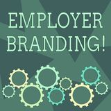 Conceptual hand writing showing Employer Branding. Business photo showcasing process of articulating your company s is. Conceptual hand writing showing Employer stock illustration