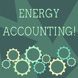 Conceptual hand writing showing Energy Accounting. Business photo showcasing measure and report the energy consumption. Conceptual hand writing showing Energy royalty free illustration