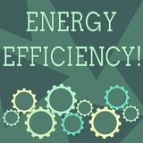 Conceptual hand writing showing Energy Efficiency. Business photo showcasing reduce the amount of energy required to. Conceptual hand writing showing Energy stock illustration