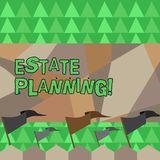 Conceptual hand writing showing Estate Planning. Business photo showcasing Insurance Investment Retirement Plan Mortgage. Conceptual hand writing showing Estate stock illustration