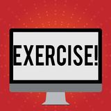 Conceptual hand writing showing Exercise. Business photo showcasing Activity requiring physical effort Bringing into. Conceptual hand writing showing Exercise vector illustration