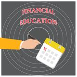 Conceptual hand writing showing Financial Education. Business photo text Understanding Monetary areas like Finance and. Conceptual hand writing showing Financial vector illustration