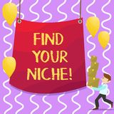 Conceptual hand writing showing Find Your Niche. Business photo showcasing search for your field Decide Choice education. Work vector illustration