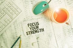 Free Conceptual Hand Writing Showing Focus Your Strength. Business Photo Showcasing Improve Skills Work On Weakness Points Royalty Free Stock Photo - 163912855