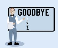 Conceptual hand writing showing Goodbye. Business photo text Greeting for leaving Farewell See you soon Separation