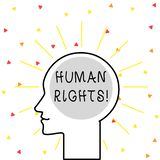 Conceptual hand writing showing Huanalysis Rights. Business photo showcasing the equality of fighting for your rights. Conceptual hand writing showing Huanalysis royalty free illustration