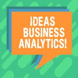 Conceptual hand writing showing Ideas Business Analytics. Business photo showcasing methodical exploration of an organization s is. Data Stack of Speech Bubble stock image