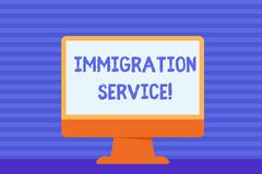 Conceptual hand writing showing Immigration Service. Business photo showcasing responsible for law regarding immigrants. Conceptual hand writing showing vector illustration