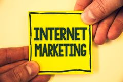 Conceptual hand writing showing Internet Marketing. Business photo text Online Commerce Networking Entrepreneur Entrepreneurship G. Rizzled background retain stock image