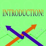 Conceptual hand writing showing Introduction. Business photo text First part of a document Formal presentation to an. Conceptual hand writing showing royalty free illustration