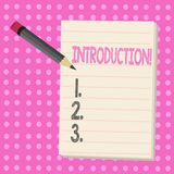 Conceptual hand writing showing Introduction. Business photo text First part of a document Formal presentation to an. Audience vector illustration